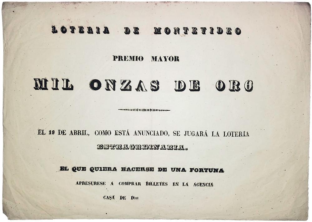 Uruguay's typographic ephemera