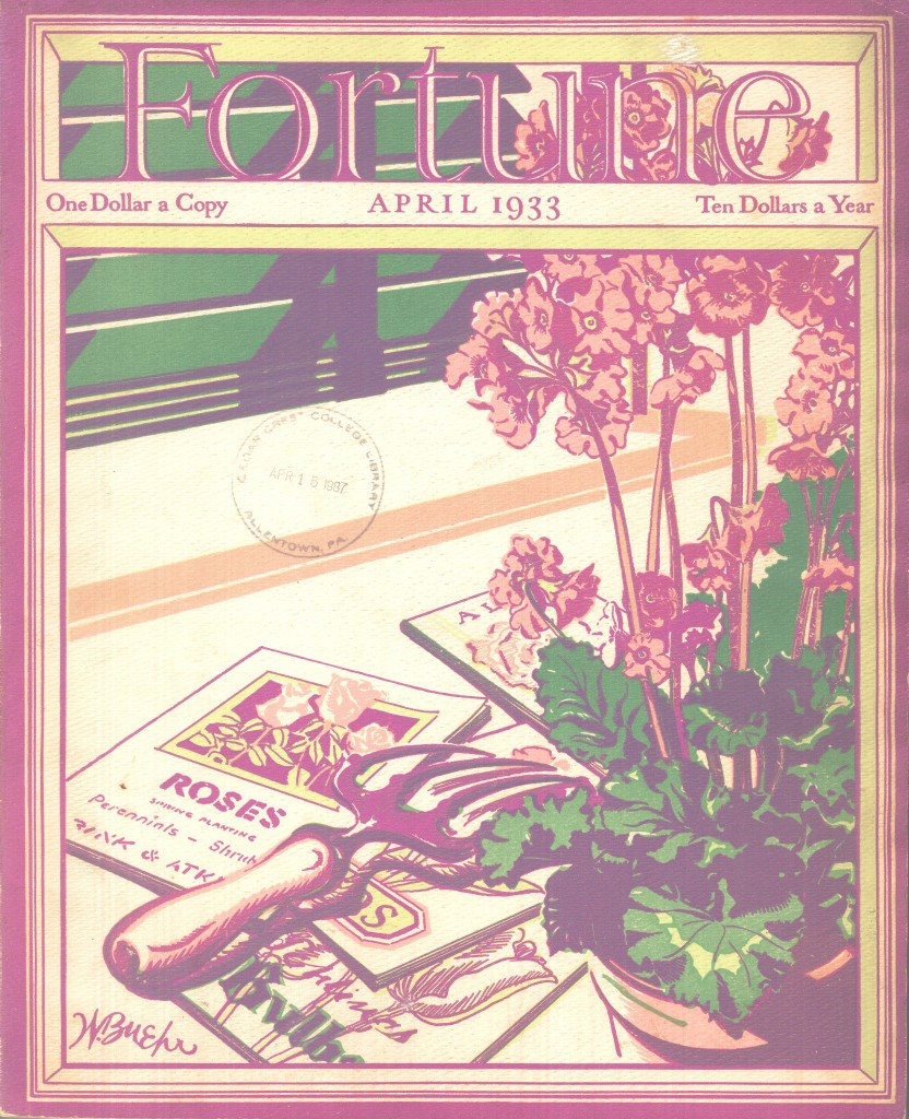 Fortune Magazine April 1933