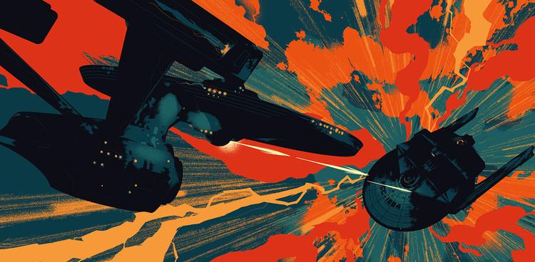'Star Trek II: The Wrath of Khan' Interior Illustration for the Vinyl Soundtrack Release by Matt Taylor for Mondo