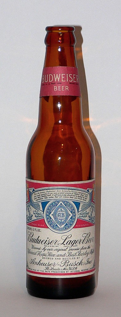 1940s Budweiser bottle