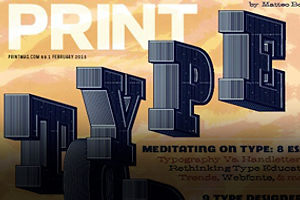 Print's February 2015 Issue – The Typography Issue