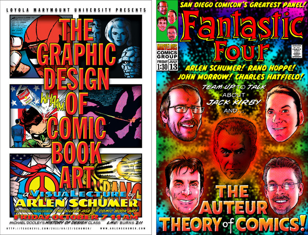 The graphic design of comic book art, fanrastic four