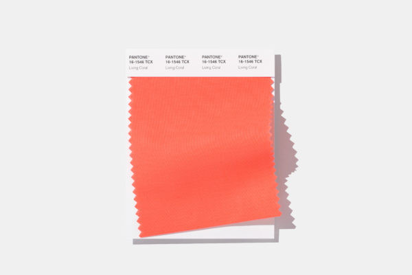 Pantone Living Coral 2019 swatch