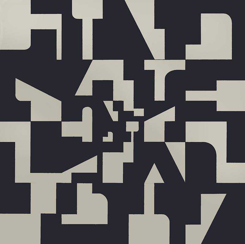 Number 3-L, 1967. Synthetic polymer on canvas squares. 96 x 96 inches.