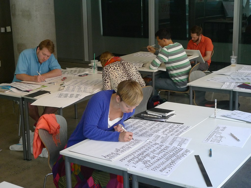 Type@Cooper students at work. Photo by Cara Di Edwardo