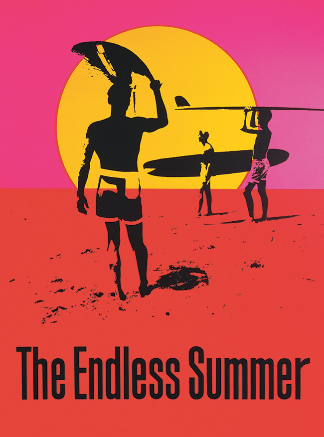 "John Van Hamersveld, ""Endless Summer"" poster for surfing documentary, 1964 (now in the collection of the Museum of Modern Art"