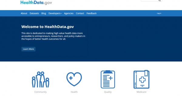 Welcome to HealthData.gov   HealthData.gov