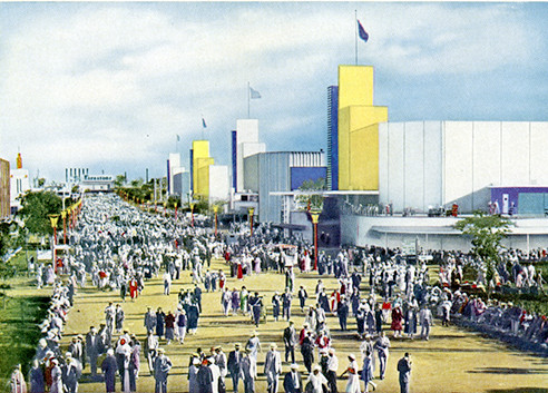 The fair grounds as the angular city of the future.