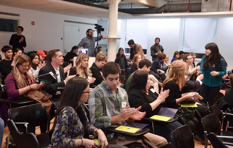 The audience at Pratt Manhattan Center