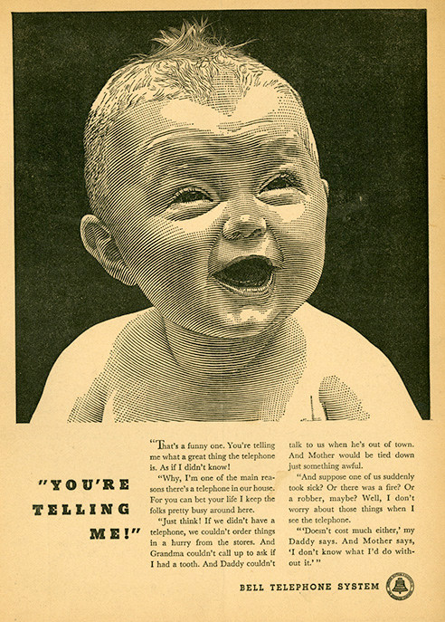 The baby picture is an ad in a 1938 magazine.