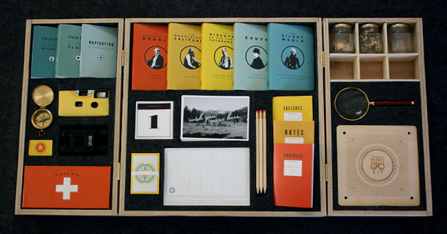 University of San Francisco student Mia Johnson created this amazingly detailed Adventure Supply Kit as her thesis project.