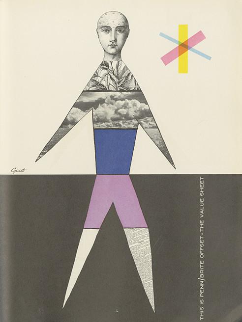 George Guisti, colored paper