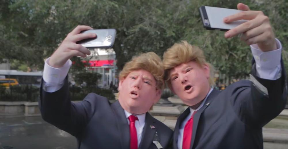 Timothy Goodman and Jessica Walsh Trump lookalikes