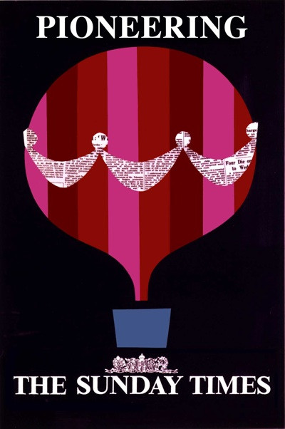 Patrick Tilley designed a number of posters for the Sunday Times in the 1960s.