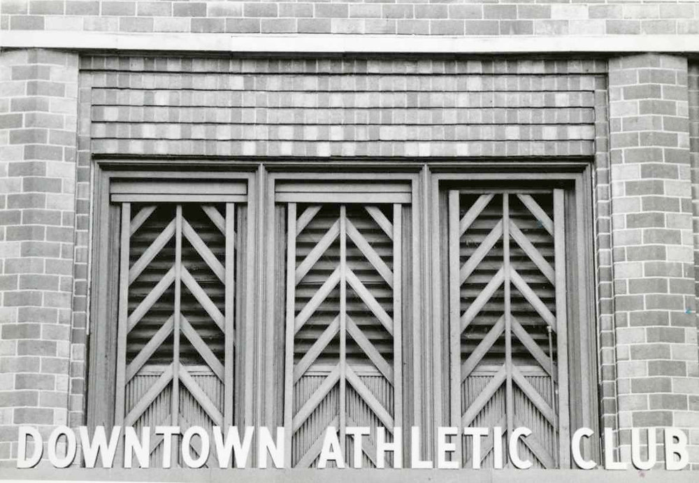 Downtown Athletic Club back entrance, 21 West St.