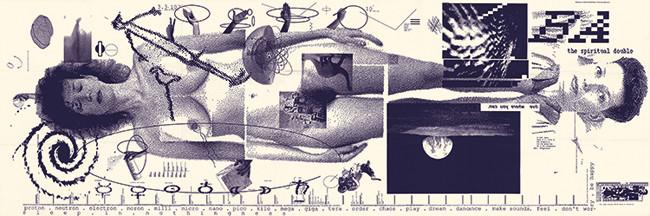 "April Greiman, ""Does It Make Sense, 76 x 25"" poster for the Walker Art Center's Design Quarterly"