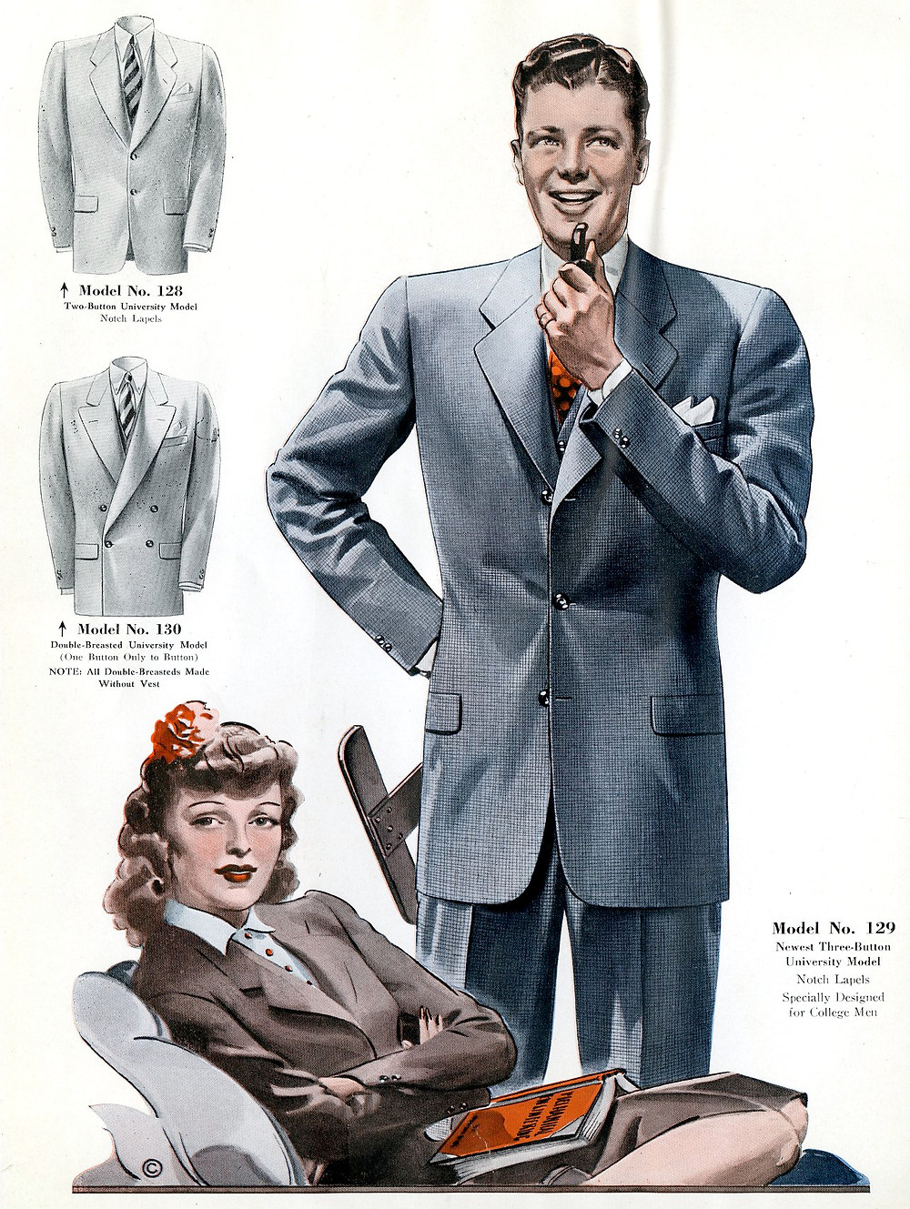 1940s fashion plate
