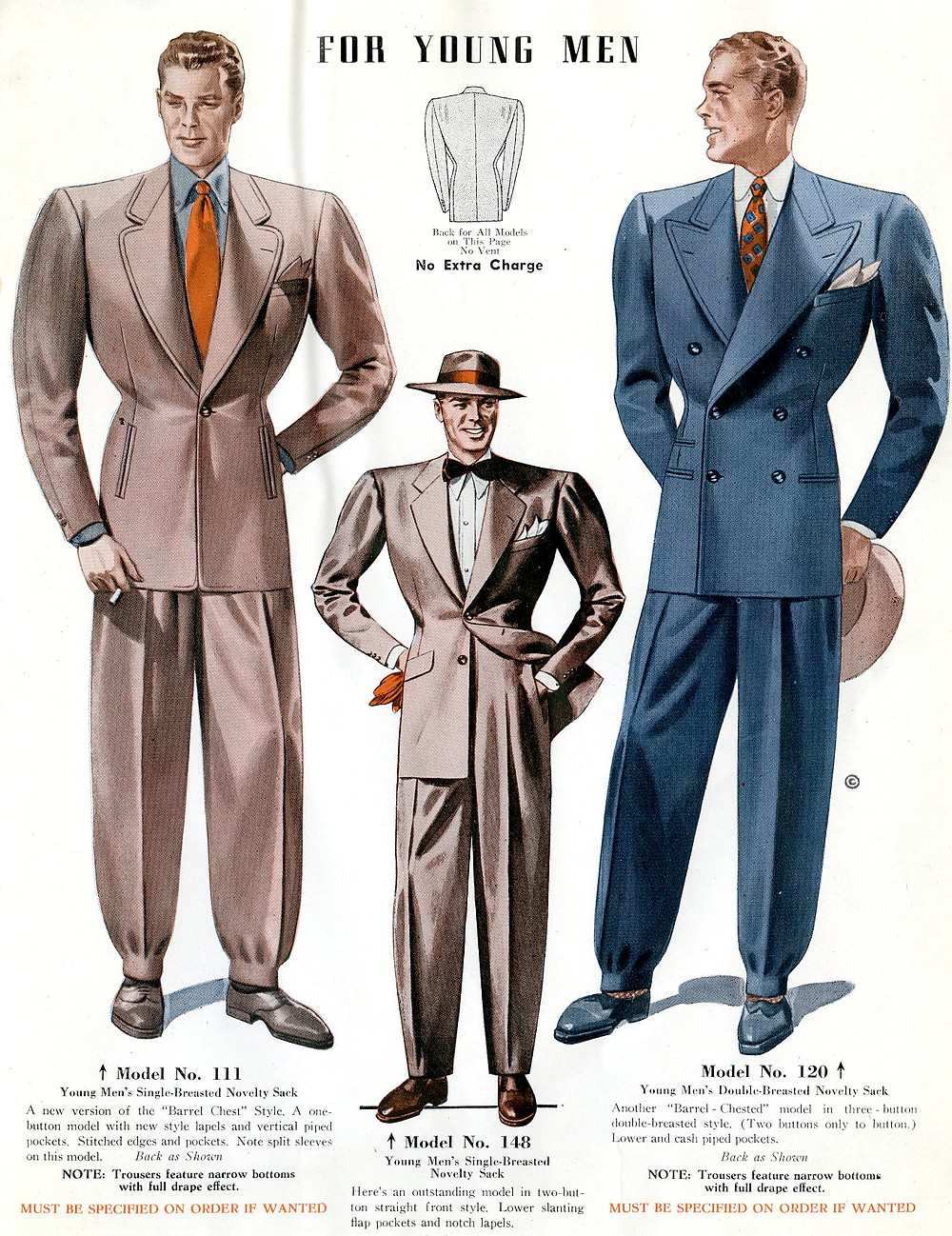 1940s fashion suits for young men