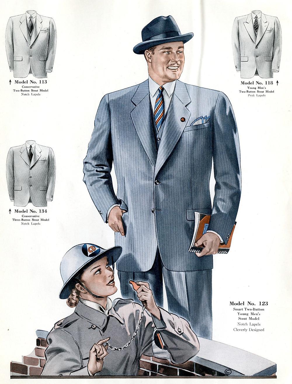 1940s fashion suit jackets for men