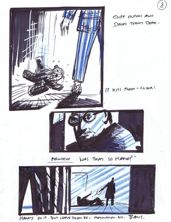 """""""Houdini's Elephant"""" storyboard panels, Trevor Goring"""