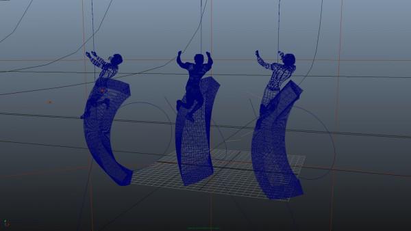 3D modeling designer wireframe