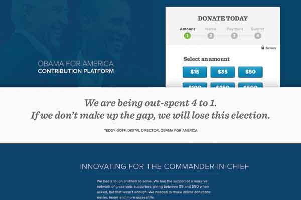 Rathee helped overhaul the donation platform for Obama for America.