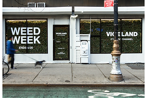Award-Winning Environmental Design: VICELAND's Weed Week Storefront