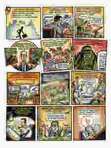 """Peter Kuper's graphics for Harvey Kurtzman swings from playful """"Hey, Look!"""" homage to full-blown """"Mad""""-ness."""