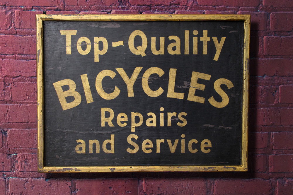 This vintage style sign was made by Nutmegger Workshop.