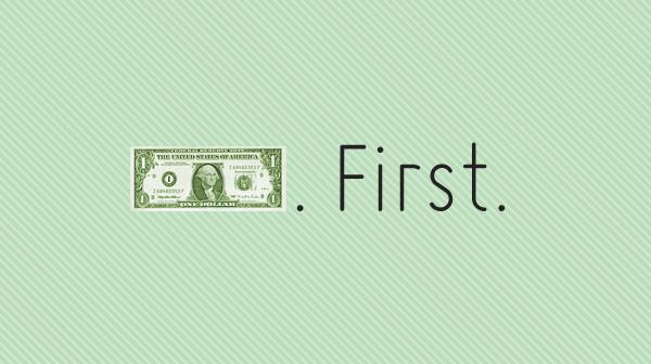 Talk about money first.