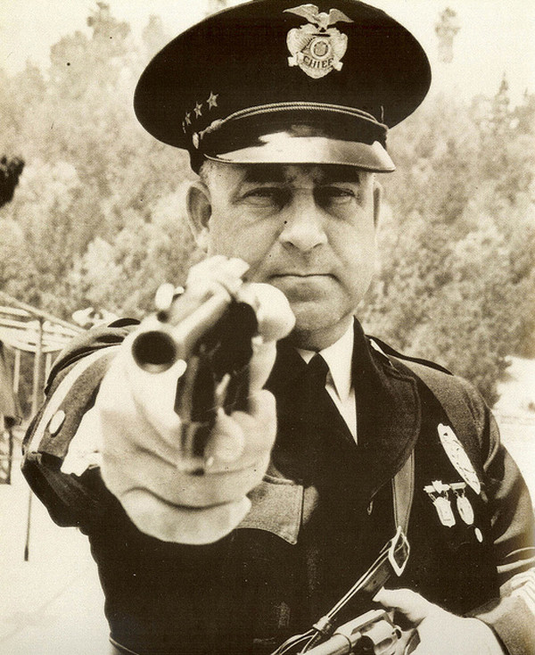 "LAPD Chief James Edgar ""Two Gun"" Davis. Photo courtesy of LAPL."