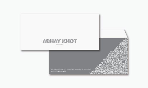Letterhead examples: Abhay Khot 3