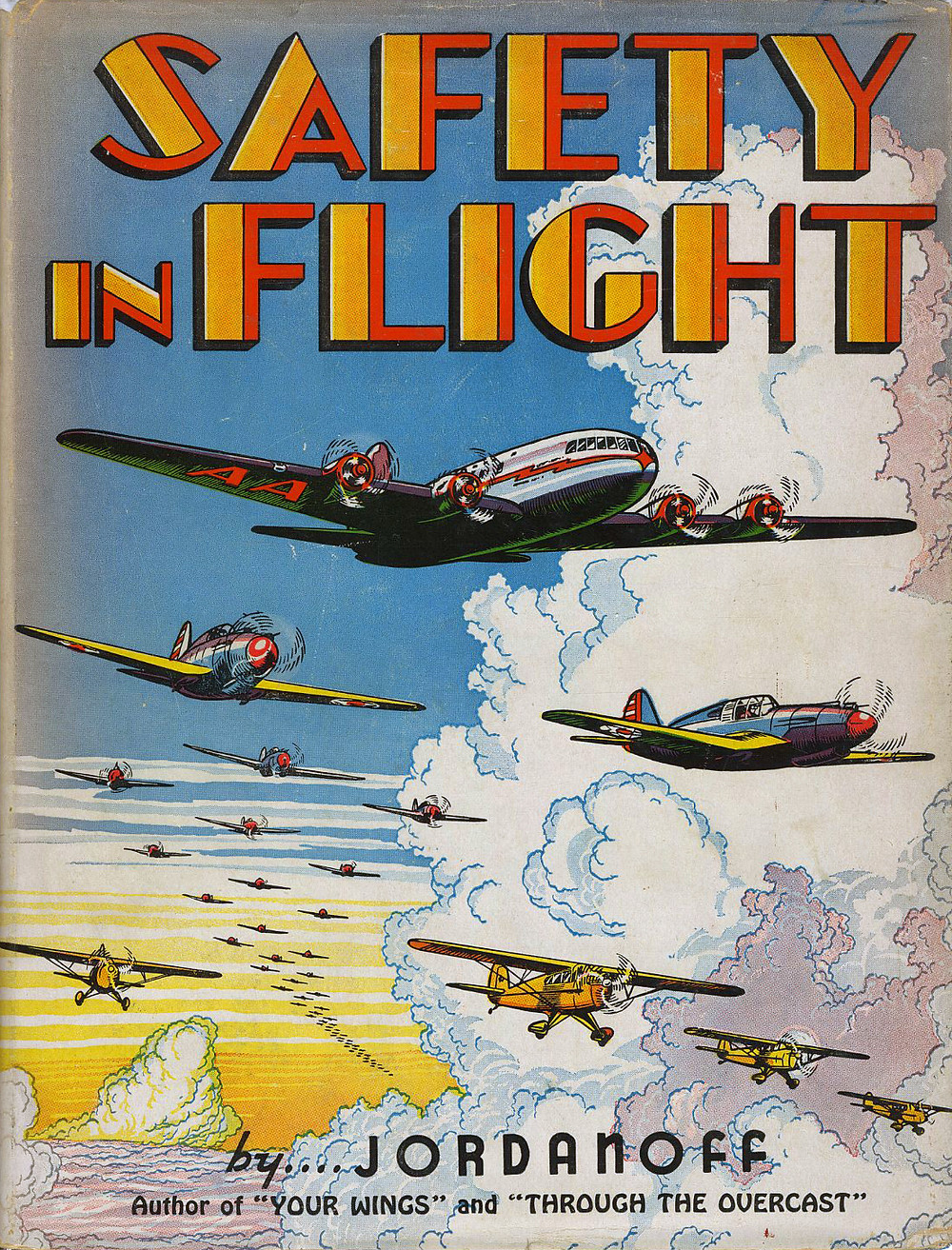 """Safety In Flight"" 1942 dustjacket with design by Fred L. Meagher."