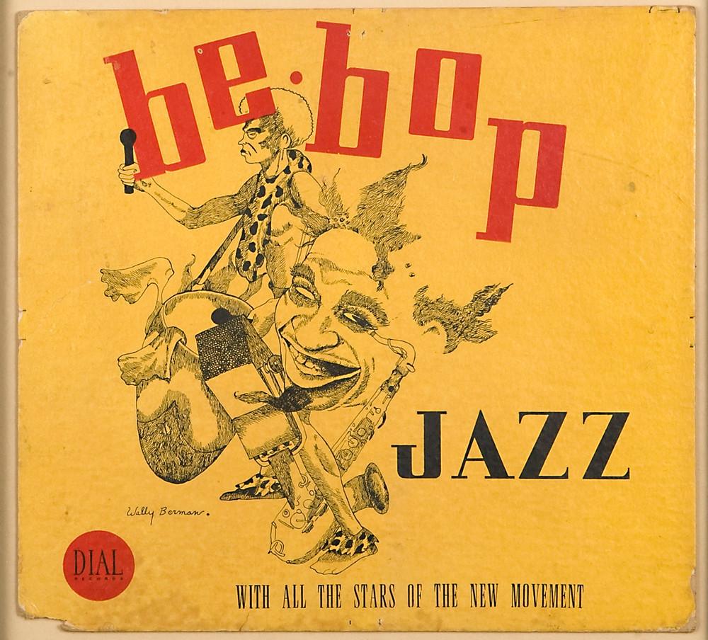 Wallace Berman: Untitled (BeBop Jazz Yellow Cover), 1940. image ©2016 Kohn Gallery.