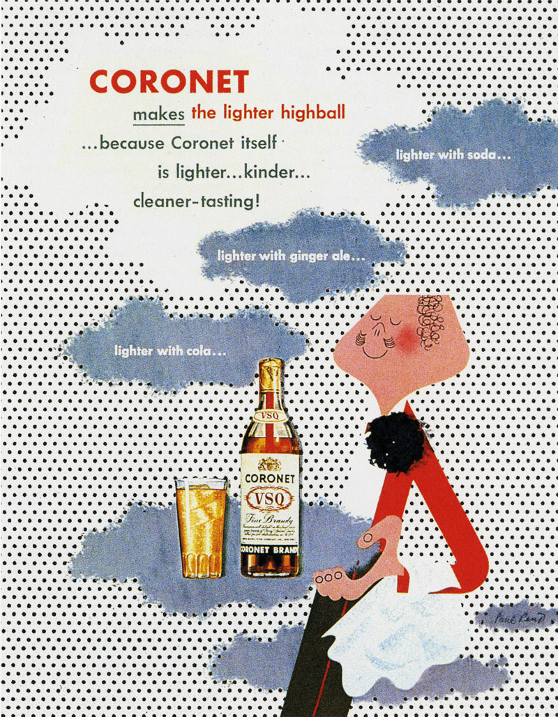 the Coronet Man, the mascot for Coronet Brandy