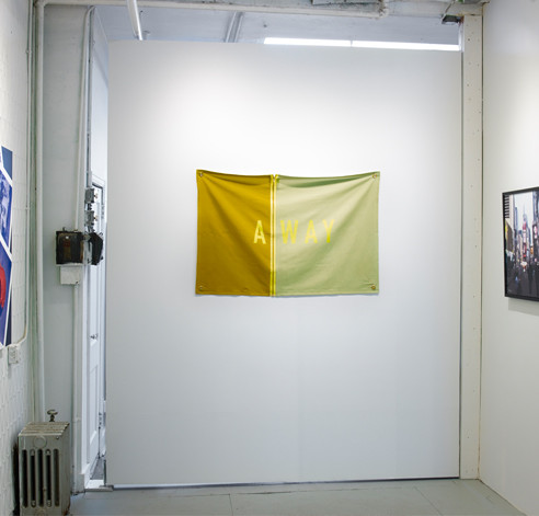 Keetra Dean Dixon's Away on cotton canvas fabric.