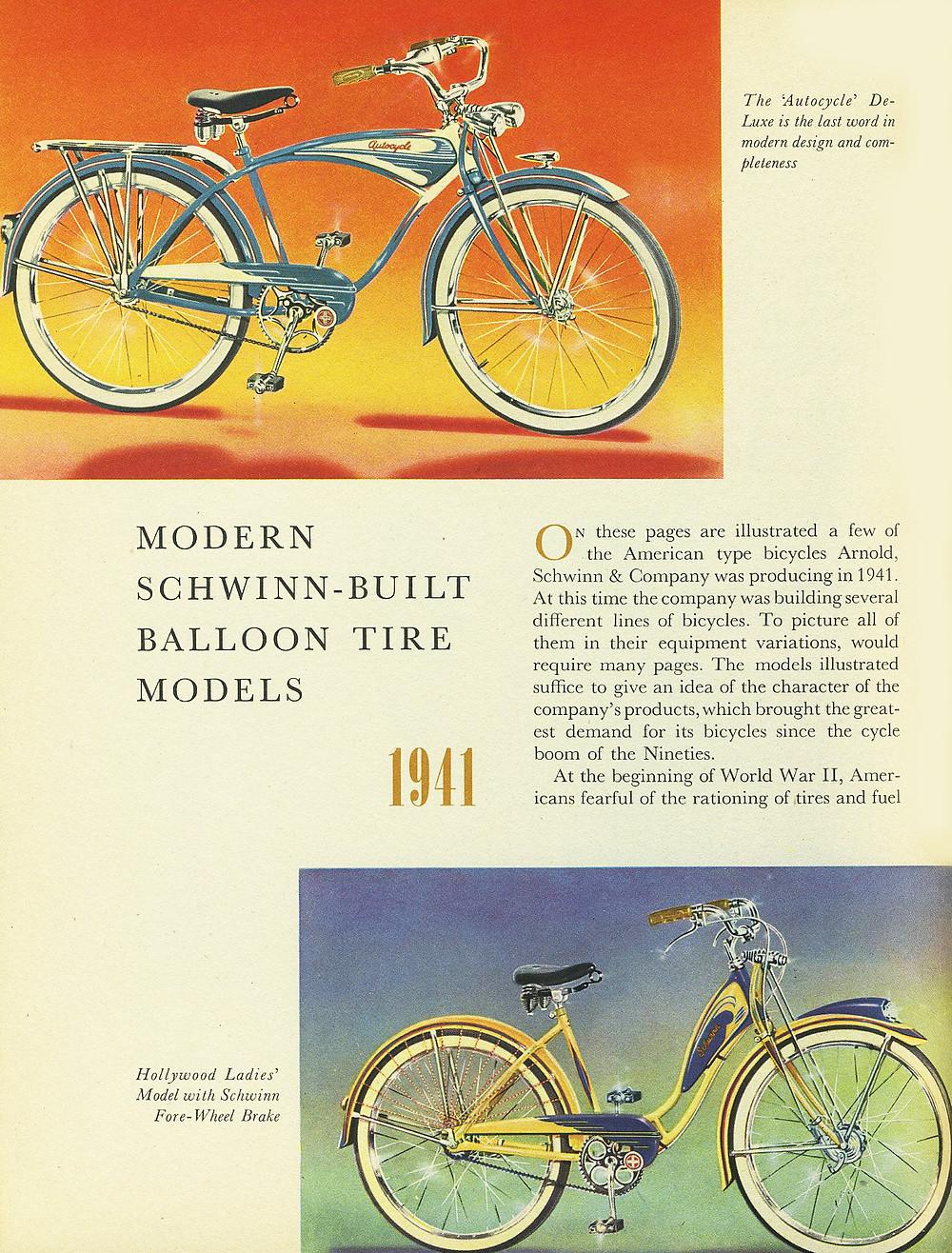 modern Schwinn - built balloon tire model