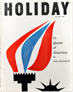 Holiday, art directed by Frank Zachary, covers designed by Paul Rand and Saul Bass.