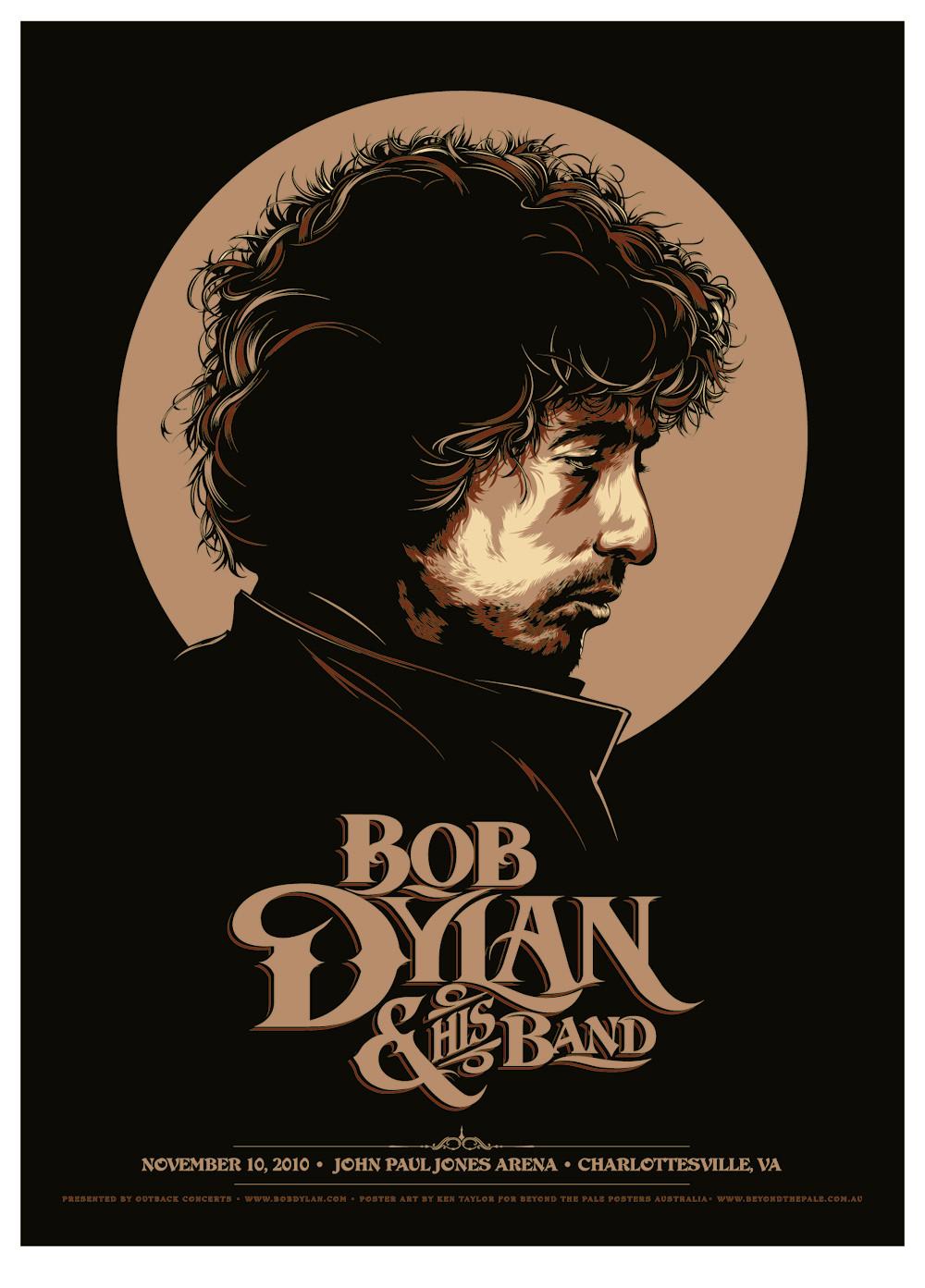 Tour poster by Ken Taylor, 2010