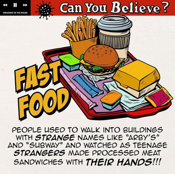 Can you believe? fast food