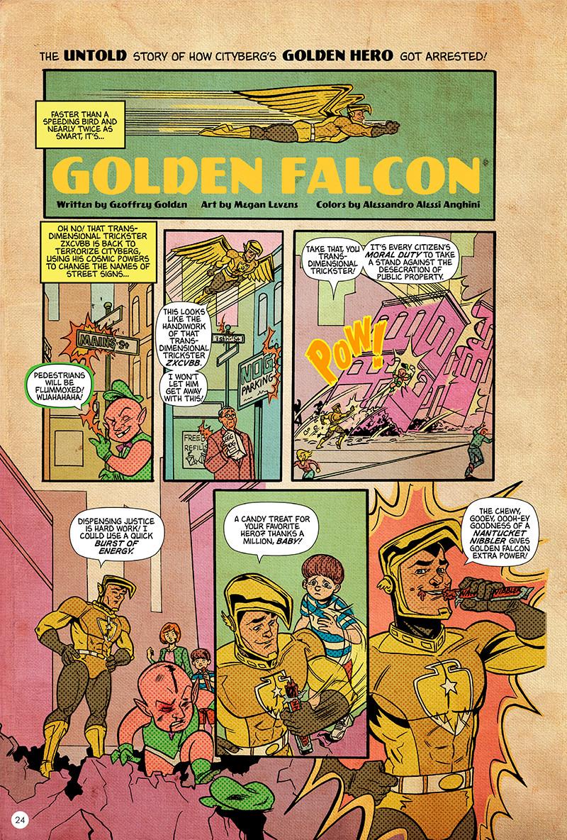 Eisner Awards- The untold story of how cityberg's Golden Hero got arrested
