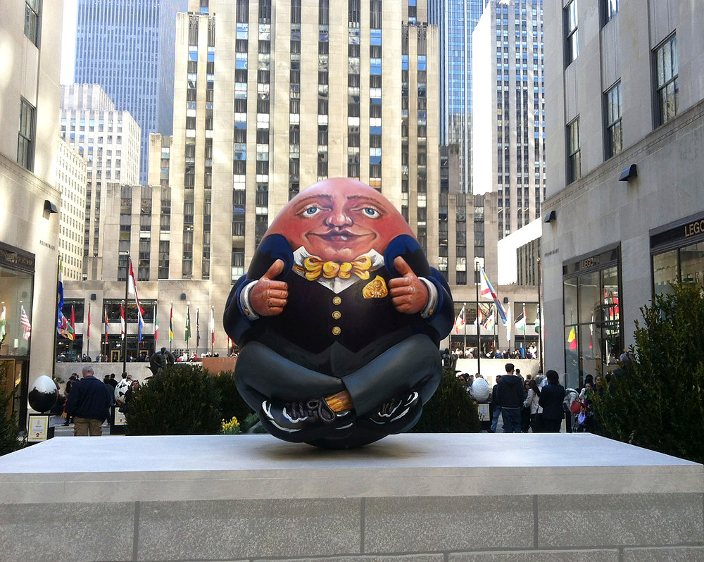 Egg #119 by Prince's Drawing School at Rockefeller Center