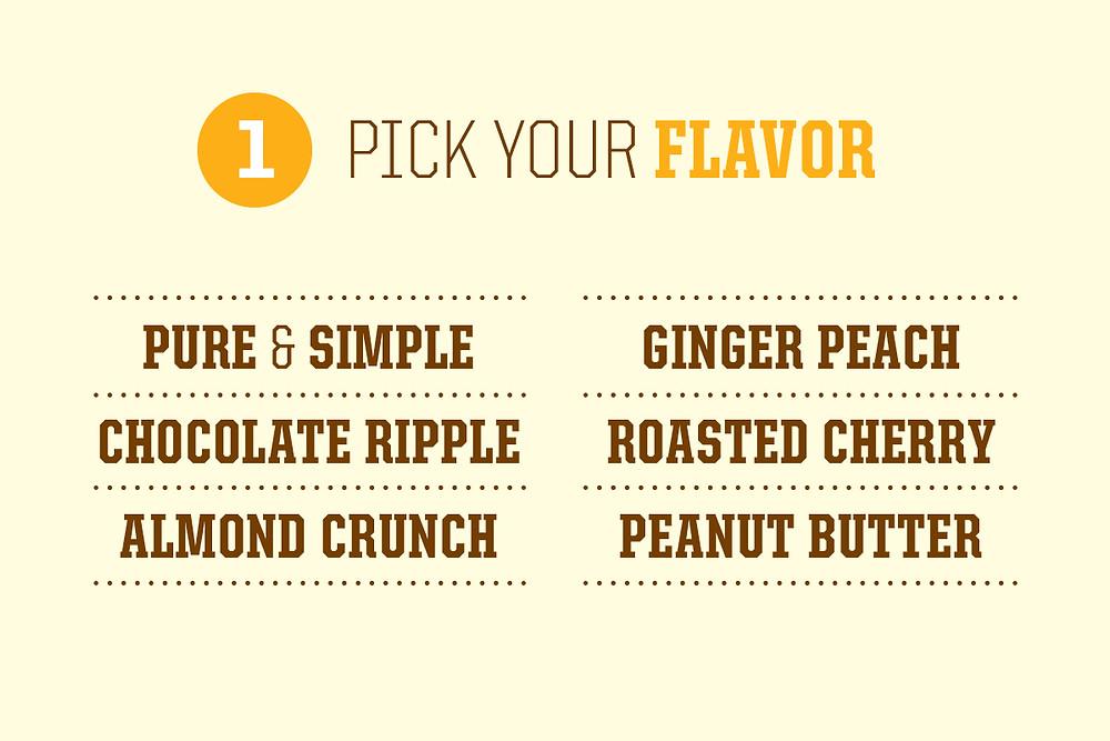 B-line ice cream flavors