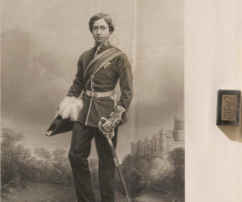 Steel engraving of Albert Edward, Prince of Wales