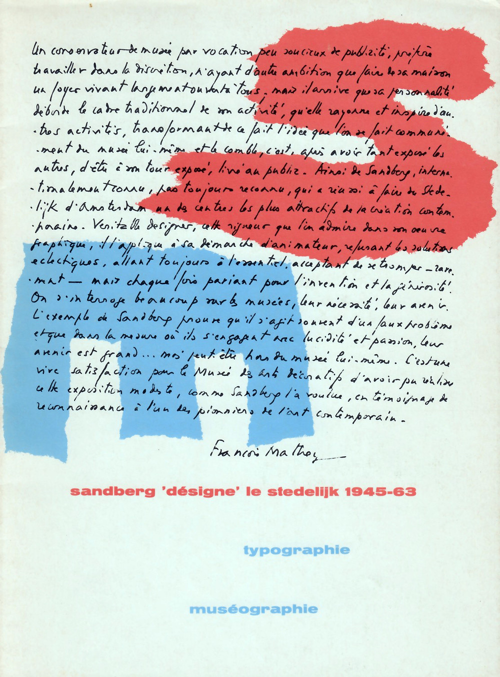 Catalog cover, 1973.