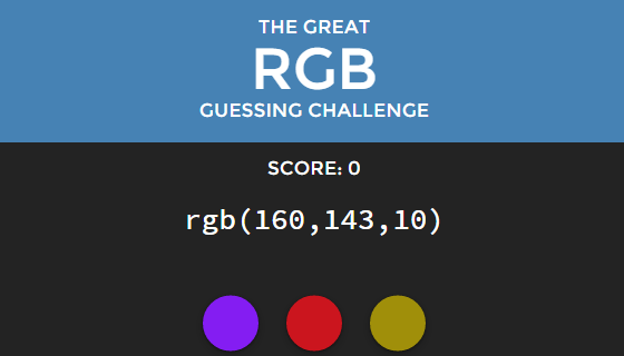 RGB Challenge