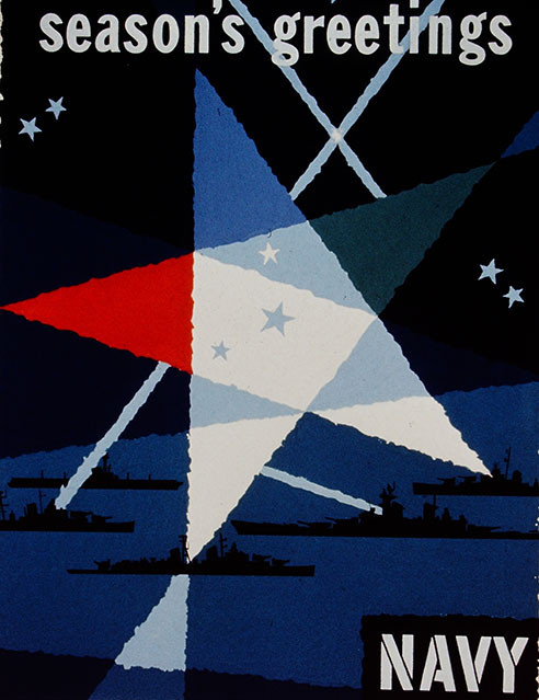 Season's greetings Navy poster