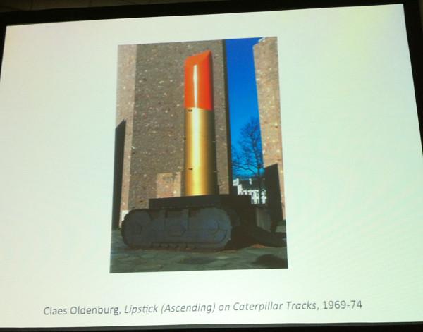Claes Oldenburg, Lipstick (Ascending) on Caterpillar Tracks, 1969-74