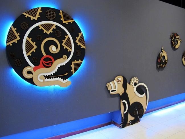 Frida Larios design - snake and dog