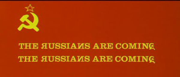 The Russians Are Coming Title by Pablo Ferro